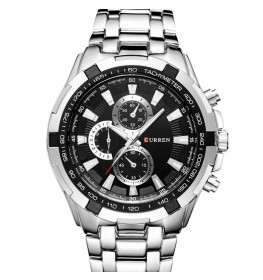 Curren Tachymeter Steel/Black-054