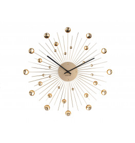 Karlsson WALL CLOCK SUNBURST CRYSTAL LARGE KA4859GD-072