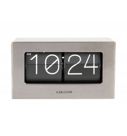 Karlsson TABLE CLOCK BOXED FLIP BRUSHED STEEL KA5620ST-061
