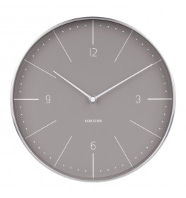Karlsson Wall clock Normann Numbers Grey-03