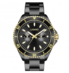Lugano Diver Chrono All Black-04