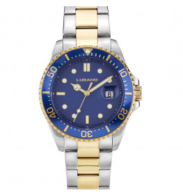 Lugano Diver Steel/Gold/Blue-031