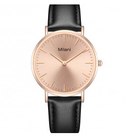 Milani Classic Black Leather Rosegold-04
