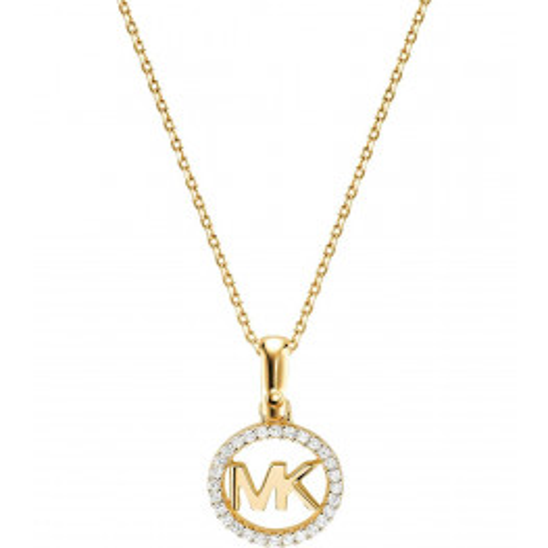 Michael Kors Custom Halskæde i forgyldt sterling sølv-012