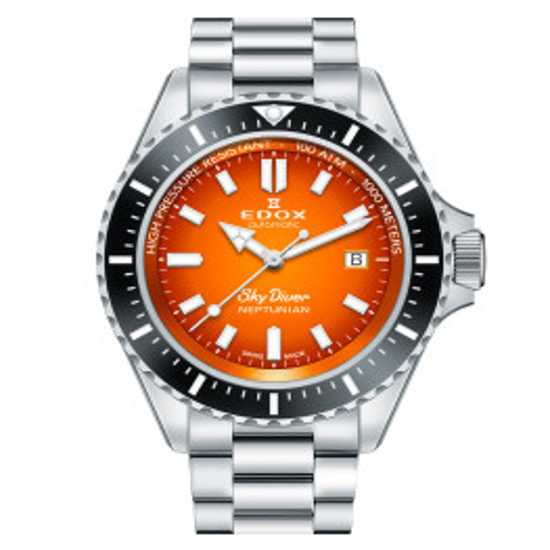 Edox SkyDiver Neptunian Orange 80120 3NM ODN-015