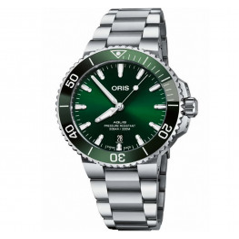 ORIS AQUIS DATE GREEN 41,5MM 73377664157MB-06