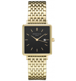 Rosefield The Boxy Black Steel Gold-027