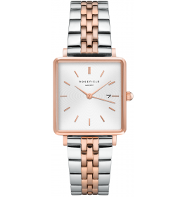 Rosefield The Boxy White Sunray Silver Rose Gold Duo-025
