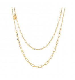 Sif Jakobs Necklace Chain Due Golden-010