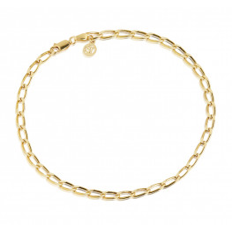 Sif Jakobs Cheval Chain Ankelkæde Guldbelagt-010