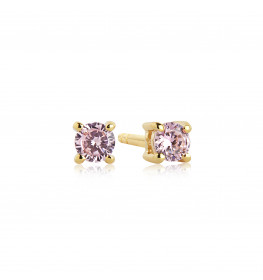 Sif Jakobs PRINCESS PICCOLO Pink EARRINGS Forgyldt-010