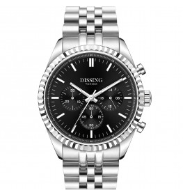 Dissing Date Chrono Black Steel-05