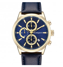 Studsgaard Blue Leather Gold/Blue-06
