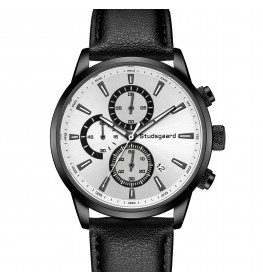 Studsgaard Black Leather Black/White-04