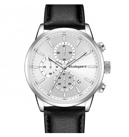 Studsgaard Black Leather Silver/White-07