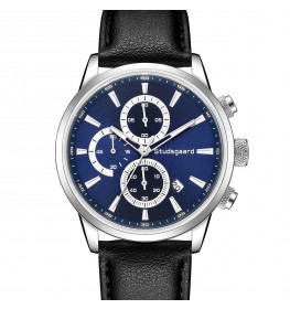 Studsgaard Black Leather Silver/Blue-06