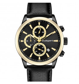 Studsgaard Black Leather Gold/Black-06