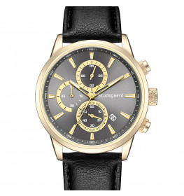 Studsgaard Black Leather Gold/Grey-07
