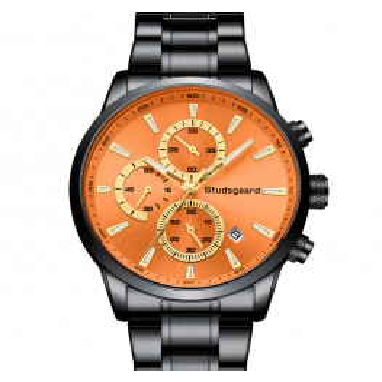 Studsgaard Chronograph Black/Orange-05