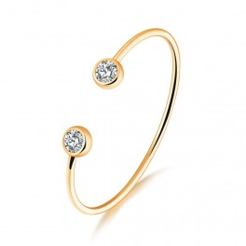 Elegant armbånd i guld med sten-20