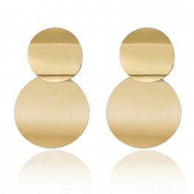Øreringe to plader i guld-20