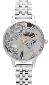 Olivia Burton Abstract Florals Silver-20