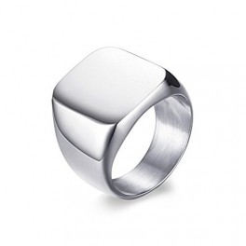 Blank sølv ring til mænd-20