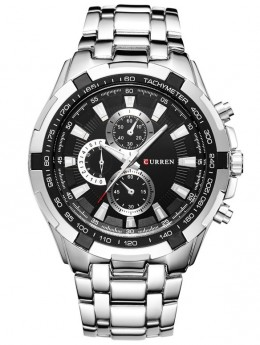 Curren Tachymeter Steel/Black-20