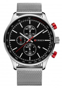 Curren Chrono Mesh Steel/Black-20