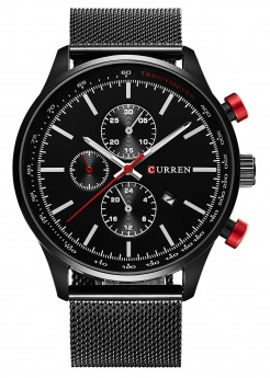 Curren Chrono Mesh Black/Black-20