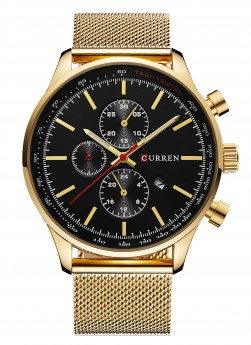 Curren Chrono Mesh Gold/Black-20