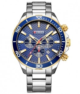 Curren Luxury Steel/Blue-20