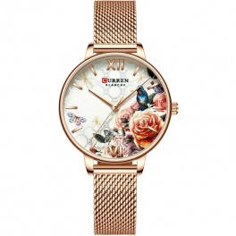 Curren Ladies Mesh Gold/Flower-20