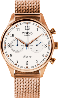 Tusenö FIRST 42 ROSE GOLD/WHITE MESH lænke-20