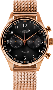 Tusenö FIRST 42 ROSE GOLD/BLACK MESH Lænke-20