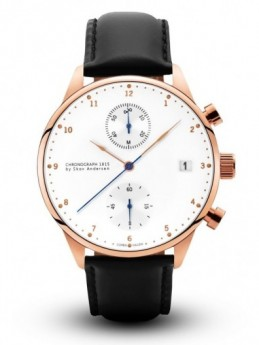 About Vintage 1815 Rose Gold Chronograph Black Strap-20