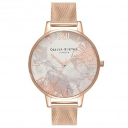 Olivia Burton Abstract Floral Rose Gold Mesh model OB16VM15
