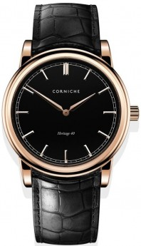 Corniche Men's Heritage 40 Rose Gold with Black Dial-20
