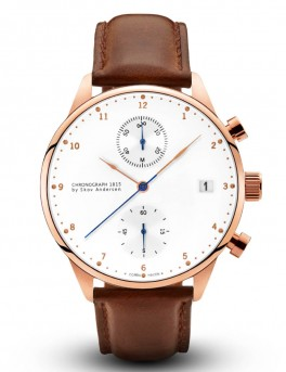 About Vintage 1815 Rose Gold Chronograph Brown Strap-20