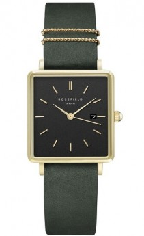 Rosefield The Boxy Black Forrest Green Gold-20