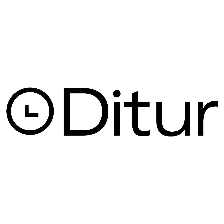 Blå læderrem med hvid syning 20 mm.-20