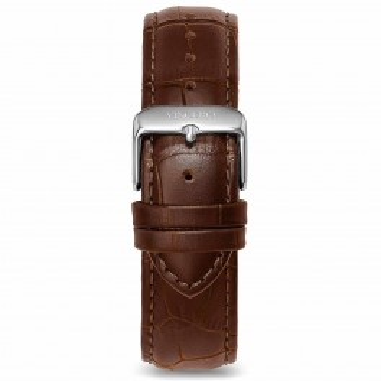 Vincero brun læderrem 22 mm Mocha Silver-20