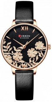 Curren Ladies Leather Black/Flower-20