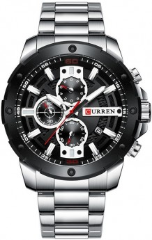 Curren Chrono Silver/Black-20