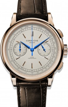 Corniche Heritage Chronograph Rose Gold with Cream dial-20