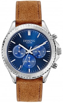 Dissing Chrono Leather Silver/Blue-20
