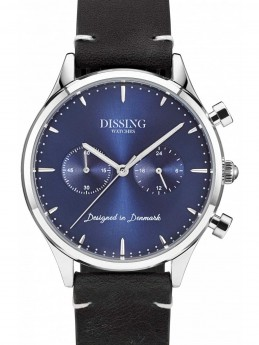 Dissing Leather Silver/Blue-20