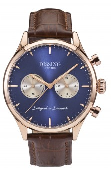 Dissing Brown Leather Gold/Blue/Steel-20