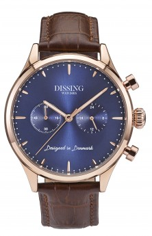 Dissing Brown Leather Gold/Blue-20