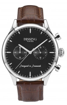 Dissing Brown Leather Silver/Black-20